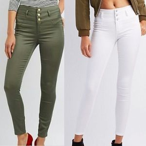 Set of Two High Waisted Skinny Jeggings